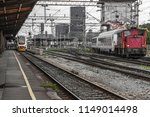 railway station in zagreb on a... | Shutterstock . vector #1149014498