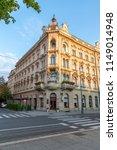 building in zagreb in croatia... | Shutterstock . vector #1149014948