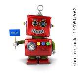 little happy vintage toy robot...   Shutterstock . vector #114905962