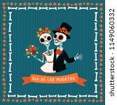 skeleton couple wedding.... | Shutterstock .eps vector #1149060332