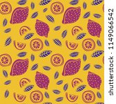 lemon seamless pattern. hand... | Shutterstock .eps vector #1149066542