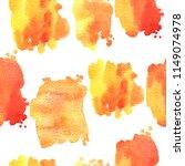 watercolor pattern with orange... | Shutterstock . vector #1149074978