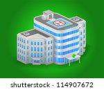 hospital building high detailed ... | Shutterstock .eps vector #114907672