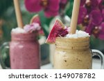 healthy smoothie drink made of... | Shutterstock . vector #1149078782