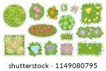 vector set. flower beds. top...   Shutterstock .eps vector #1149080795