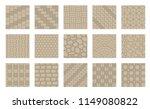set of vector street pavements. ... | Shutterstock .eps vector #1149080822