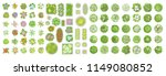 vector set. trees  flowers and... | Shutterstock .eps vector #1149080852