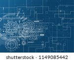 abstract technology background. ... | Shutterstock .eps vector #1149085442