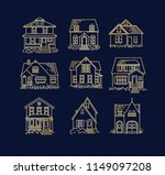 set of house different forms... | Shutterstock .eps vector #1149097208