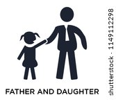 father and daughter icon vector ... | Shutterstock .eps vector #1149112298