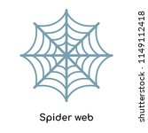 spider web icon vector isolated ... | Shutterstock .eps vector #1149112418