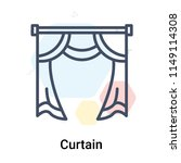 curtain icon vector isolated on ... | Shutterstock .eps vector #1149114308