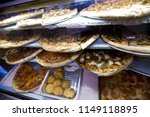 showcase pizzeria with... | Shutterstock . vector #1149118895