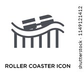 roller coaster icon vector... | Shutterstock .eps vector #1149121412
