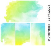 set of colorful abstract water...   Shutterstock . vector #114912226