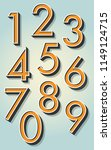 retro 3d numbers on the... | Shutterstock .eps vector #1149124715