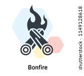 bonfire icon vector isolated on ... | Shutterstock .eps vector #1149128618