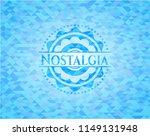 nostalgia sky blue emblem.... | Shutterstock .eps vector #1149131948