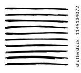 hand drawn brush strokes. black ... | Shutterstock .eps vector #1149134072