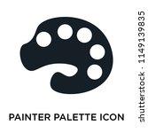 painter palette icon vector... | Shutterstock .eps vector #1149139835