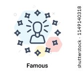famous icon vector isolated on... | Shutterstock .eps vector #1149140318