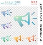 bullhorn geometric polygonal... | Shutterstock .eps vector #1149141065