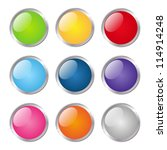 set of glossy round buttons | Shutterstock .eps vector #114914248