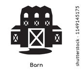 barn icon vector isolated on... | Shutterstock .eps vector #1149145175