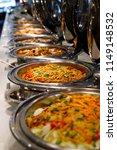 asian food buffet in restaurant   Shutterstock . vector #1149148532