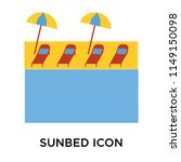 sunbed icon vector isolated on...   Shutterstock .eps vector #1149150098