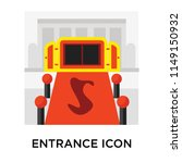 entrance icon vector isolated... | Shutterstock .eps vector #1149150932