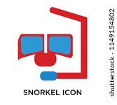 snorkel icon vector isolated on ... | Shutterstock .eps vector #1149154802