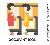 occupant icon vector isolated... | Shutterstock .eps vector #1149155945