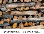 preparation of firewood for the ... | Shutterstock . vector #1149157568