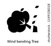 wind bending tree icon vector...   Shutterstock .eps vector #1149158318