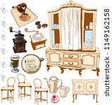 set of furniture in antique... | Shutterstock .eps vector #1149162158
