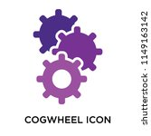 cogwheel icon vector isolated... | Shutterstock .eps vector #1149163142