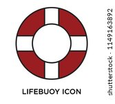 lifebuoy icon vector isolated...   Shutterstock .eps vector #1149163892