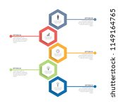 infographic template with... | Shutterstock .eps vector #1149164765