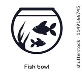fish bowl icon vector isolated... | Shutterstock .eps vector #1149166745
