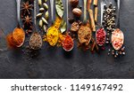 spices on black baclground | Shutterstock . vector #1149167492