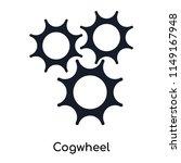 cogwheel icon vector isolated... | Shutterstock .eps vector #1149167948
