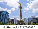 the angel of independence ... | Shutterstock . vector #1149169622