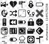 set of 25 icons such as  add ...