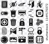 set of 25 icons such as...