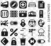 set of 25 icons such as battery ...