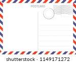 postcard. air mail. postal card ... | Shutterstock . vector #1149171272