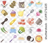 set of 25 icons such as pizza ...