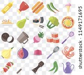 set of 25 icons such as teapot  ...