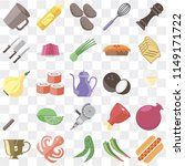 set of 25 icons such as hot dog ...